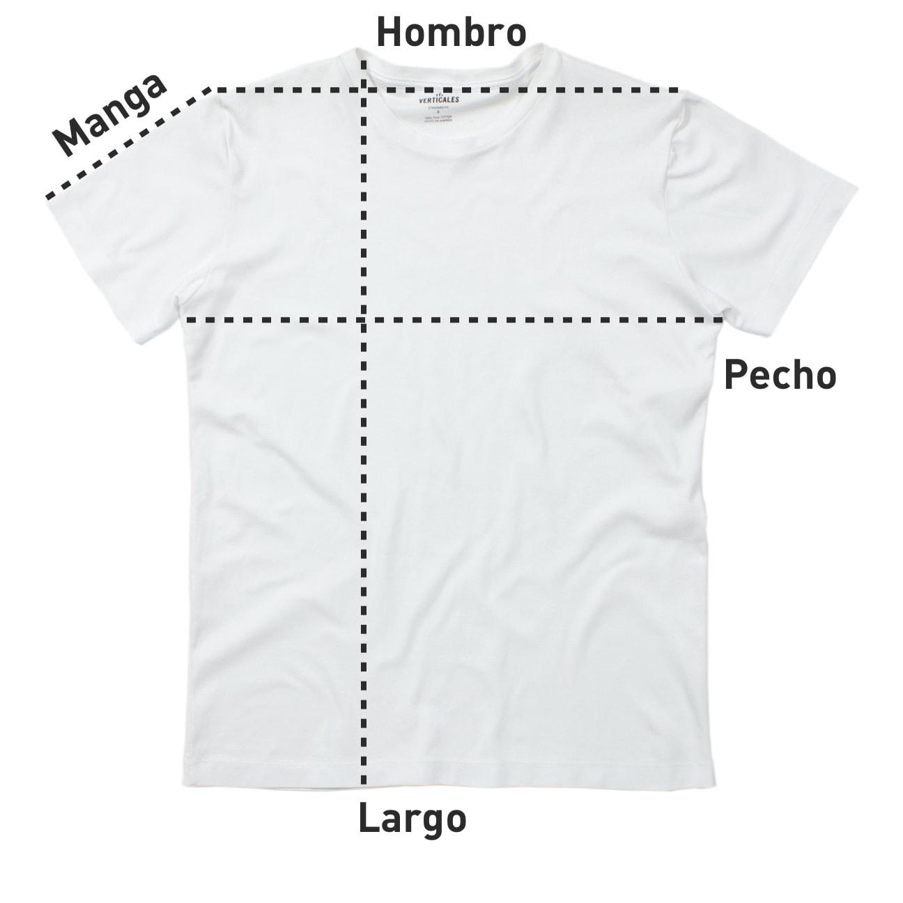 Cómo medir tu franela Verticales