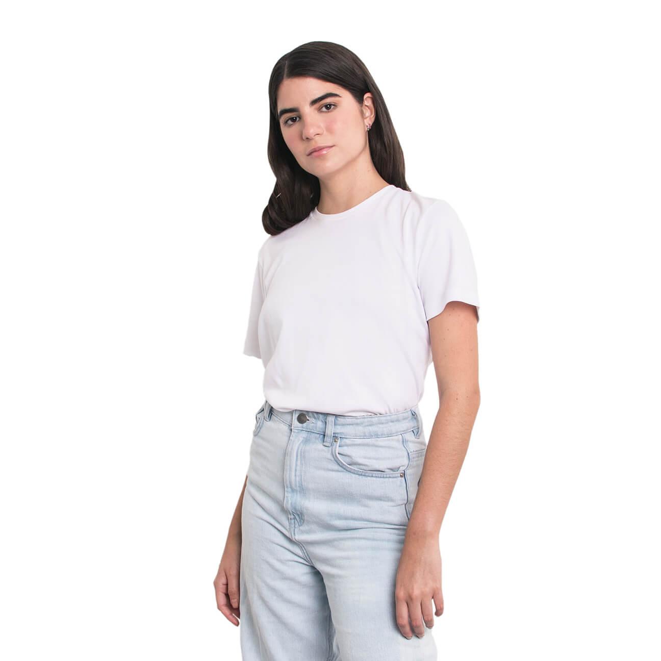 Boyfriend shirt básica blanca verticales lado