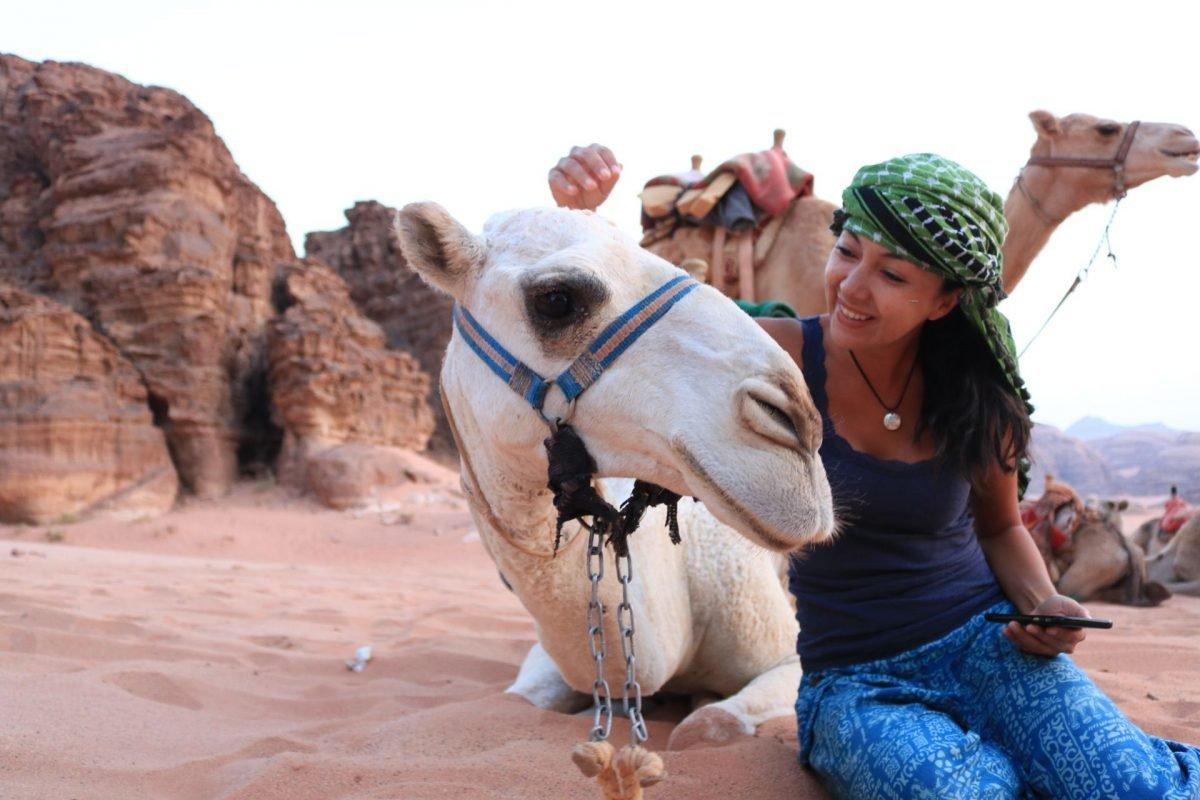 Camellos Wadi Rum Jordania