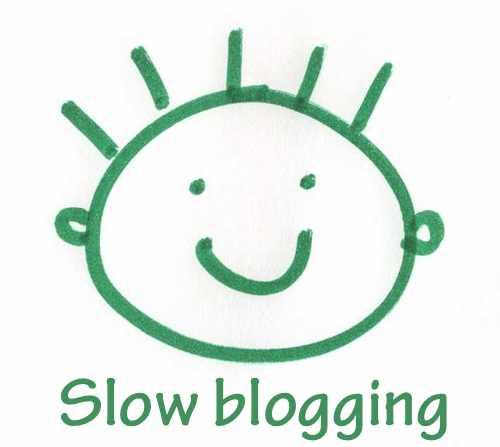 dibujo a rotulador del logo de slow blogging para este año 2013