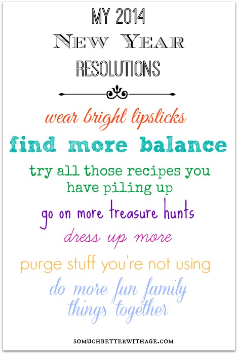 2014 House Goals And Resolutions | So Much Better With Age