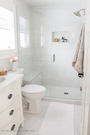 Small Bathroom Renovation and 13 Tips to Make it Feel Luxurious   So     Small bathroom renovation and 13 tips to make it feel luxurious   So Much  Better With
