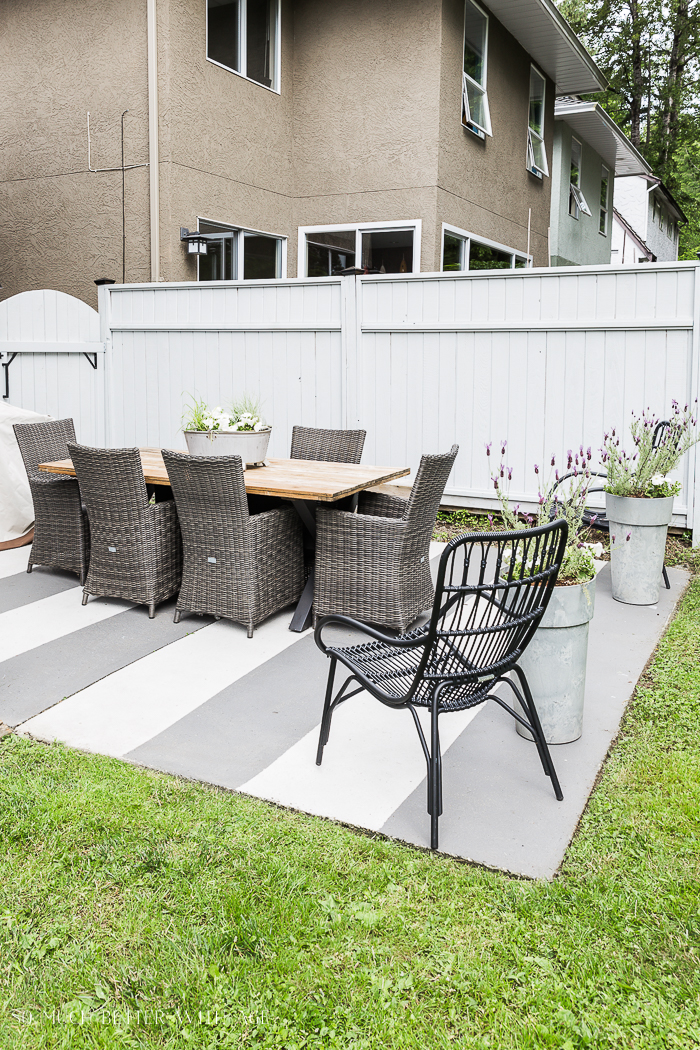 10 Painted Concrete Patio / Floor Ideas | So Much Better ... on Backyard Concrete Patio Designs  id=35055