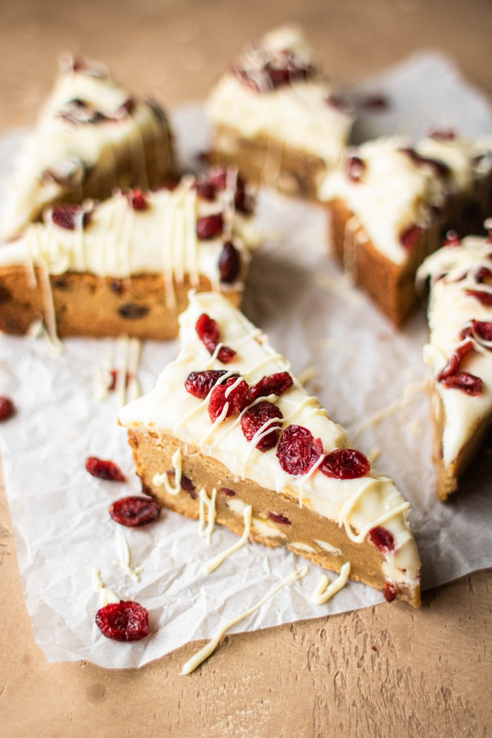 cranberry white chocolate cookie bars