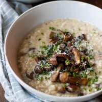 truffle + mushroom risotto