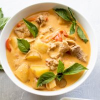thai panang curry with pork