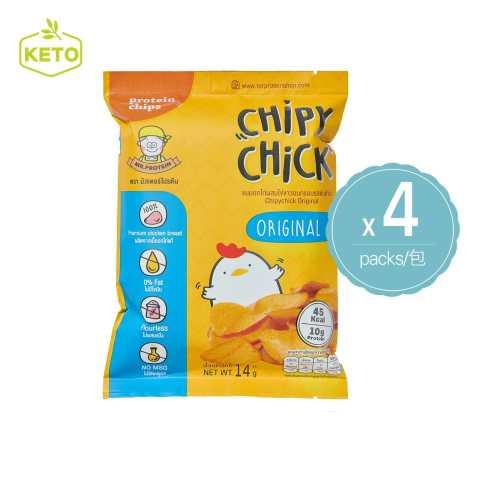 Mr Protein - 烤雞胸肉薯片 原味 泰國進口 生酮零食 (4件入)