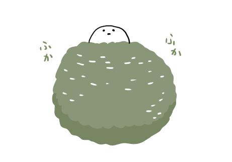 エナガのふかふかな巣