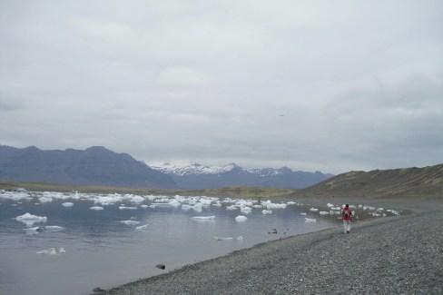 Paseo por el lago glaciar Jökullsarlon.