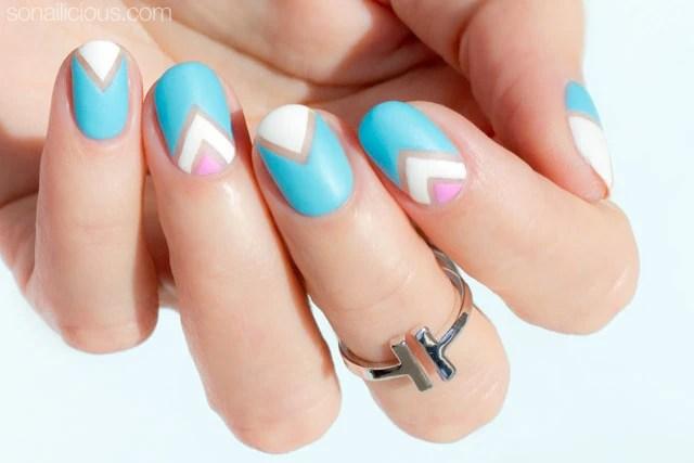 Short Nails Pastel Negative E Nail Art Tutorial