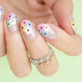 Attactive Funky Nail Design