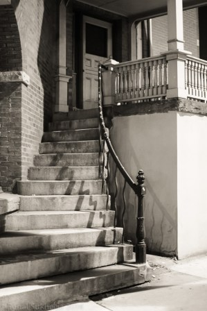 Staircase to old house