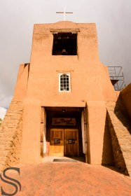 Oldest Church in USA - on Old Santa Fe Trail in Santa Fe downtown, New Mexico