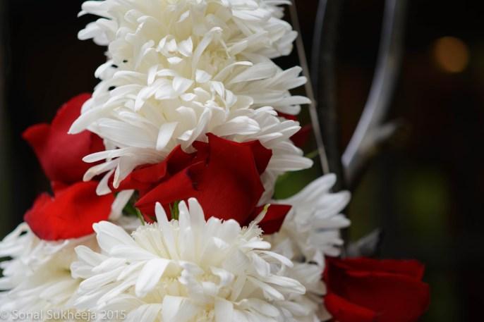 String of flowers - garland