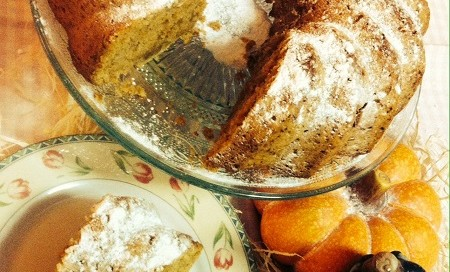Receta de Bundt cake de calabaza