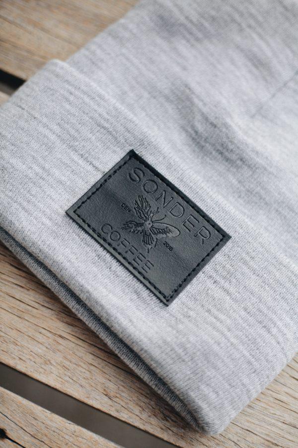 SONDER Grey & Leather Beanie