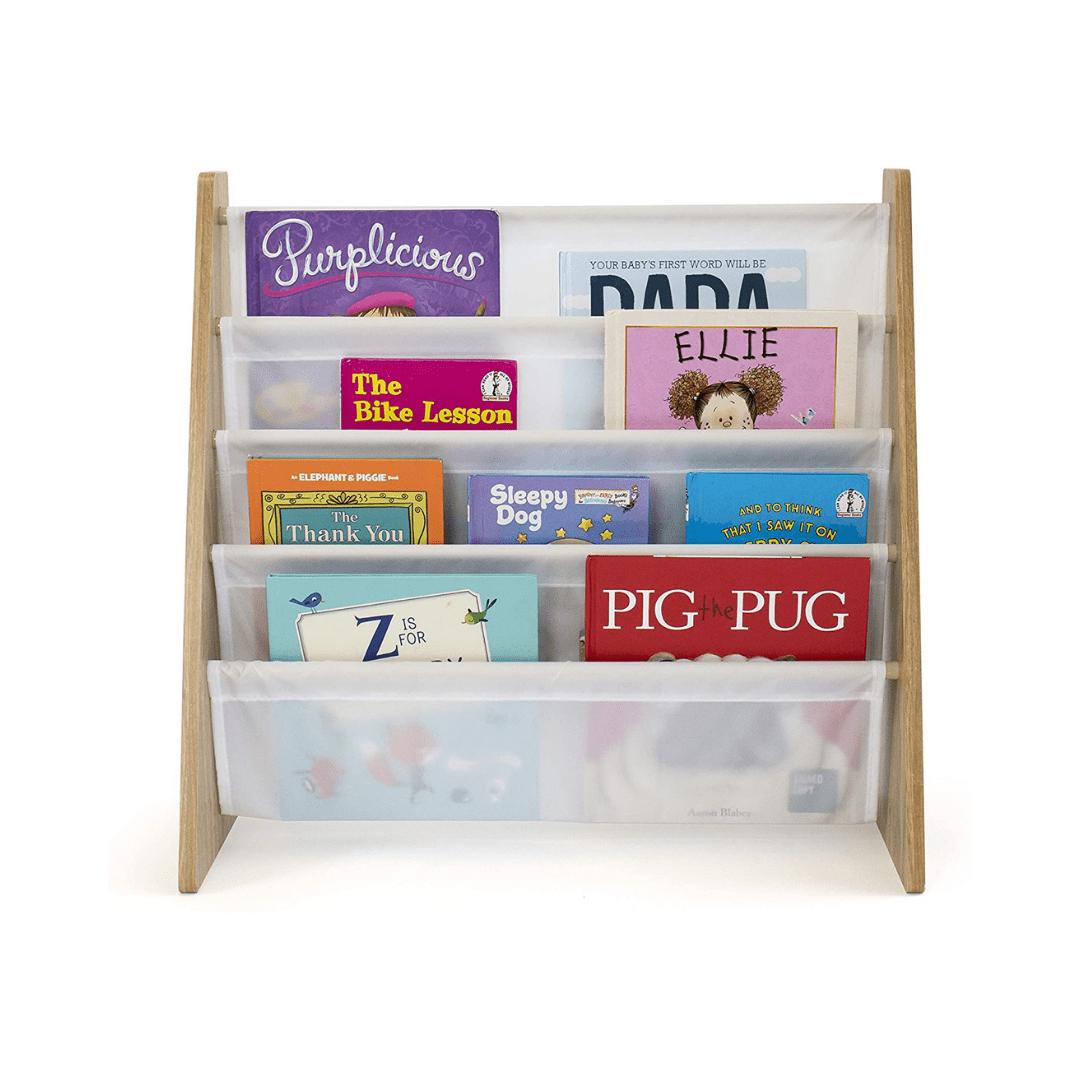 natural white kids book rack storage bookshelf