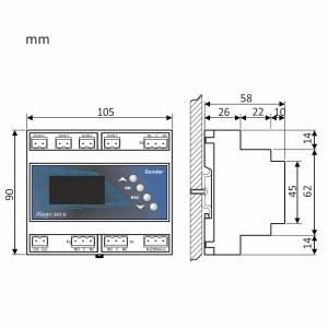 medidas del control Allegro 543G
