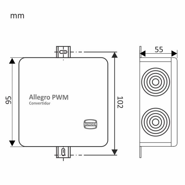 Medidas del Allegro PWM