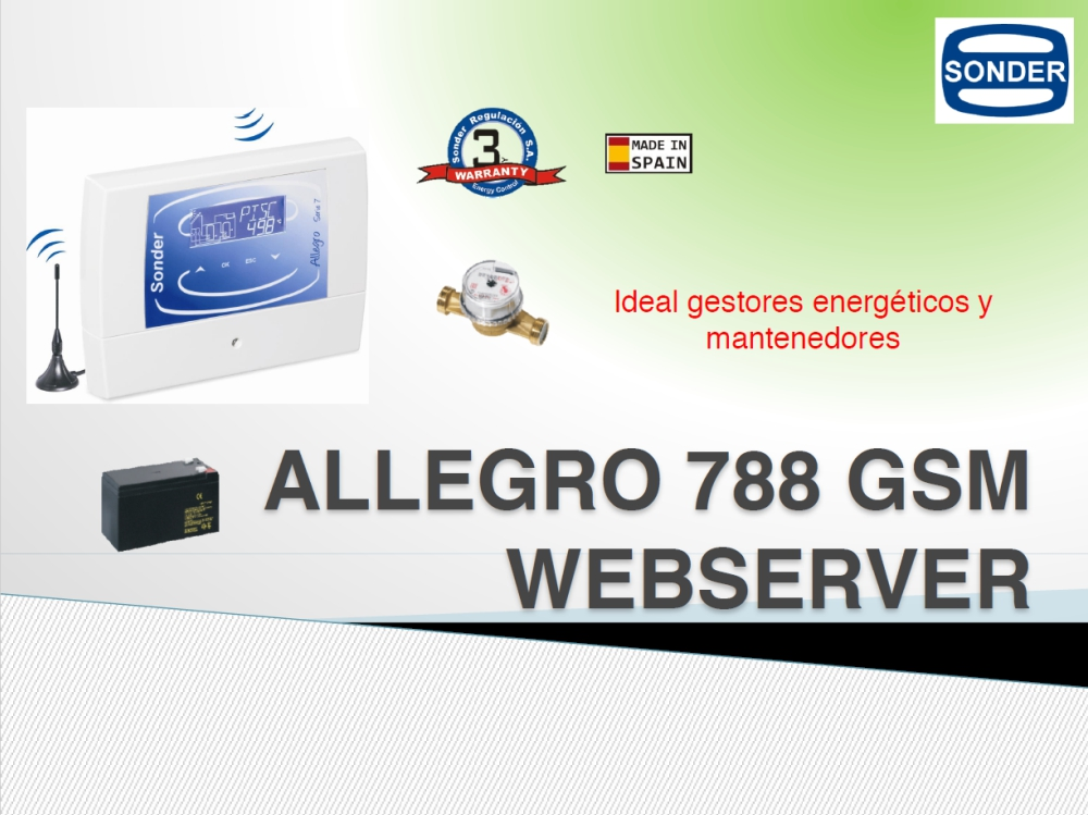 Presentación Allegro 788L Webserver