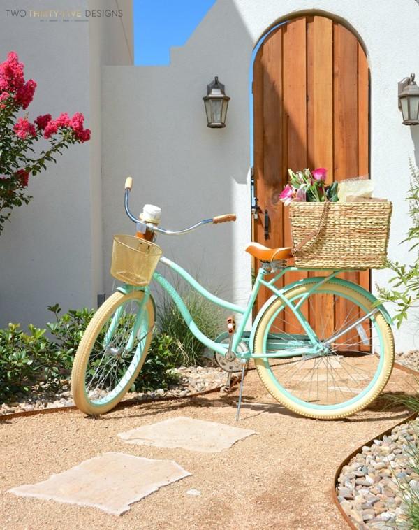DIY Seagrass Bike Basket