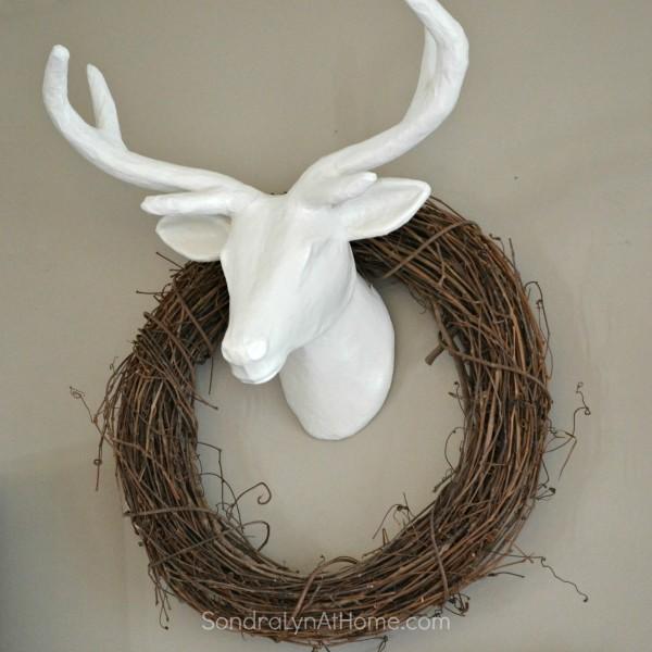 Paper Mache DIY DeerHead- Sondra Lyn at Home