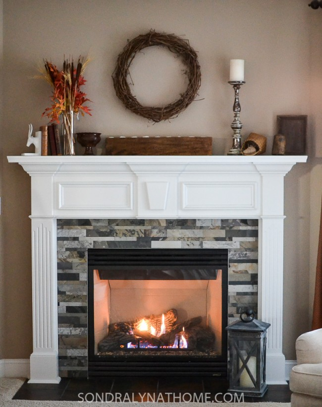 easy peel and stick stone fireplace