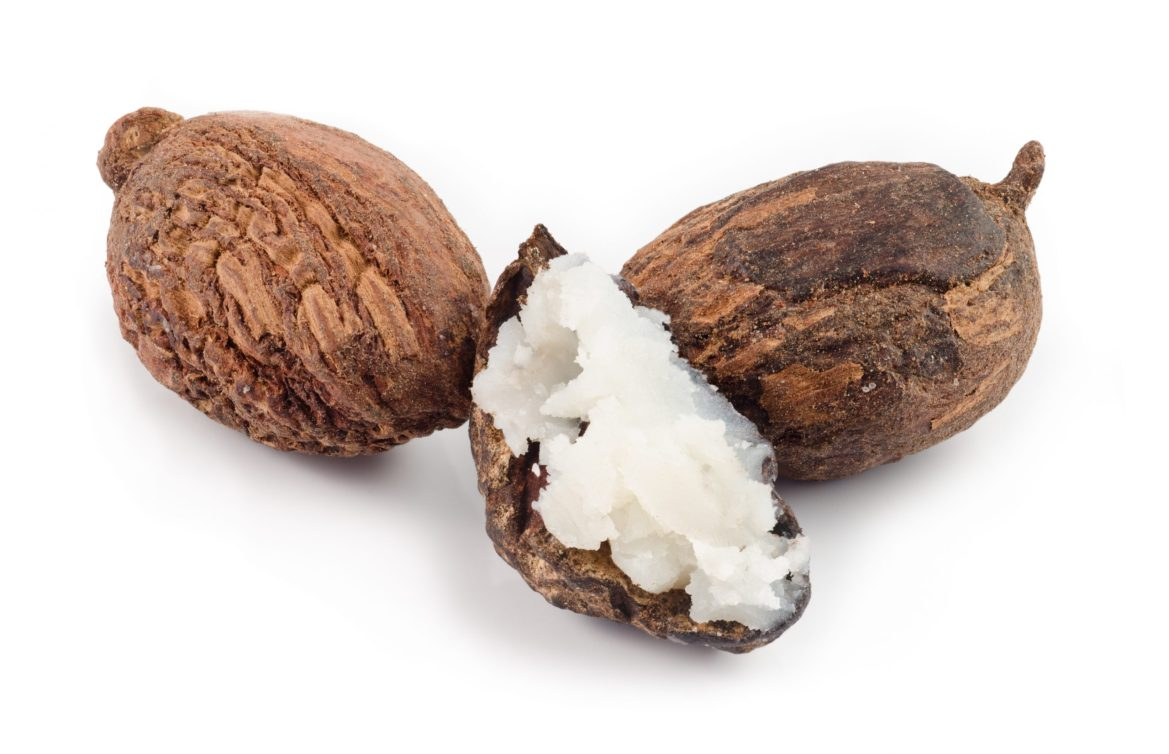 Shea nuts filled with butter