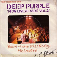 burn - deep purple single cover