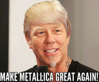 make metallica great again meme