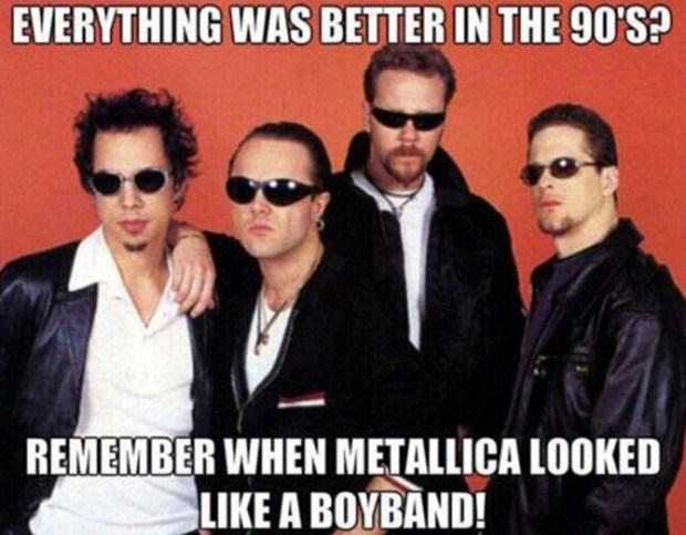 meme metallica boy band
