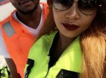 Ubi Franklin & Controversial Kenyan Socialite, Vera Sidika Go On Boat Cruise (Photo)