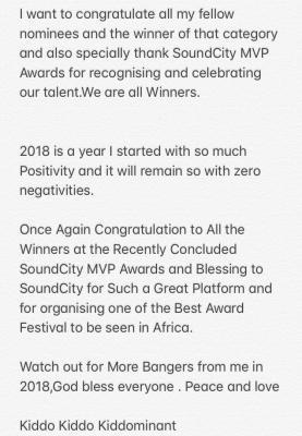 Davido's Producer Kiddominant Apologises For Rant Against Soundcity MVP Awards