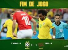 Brazil vs Switzerland 1-1 (Watch HighLights)