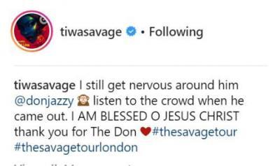 I Still Get Nervous Around Don Jazzy - Tiwa Savage