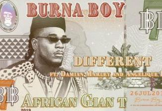 MP3: Burna Boy - Different Ft. Damian Marley, Angelique Kidjo