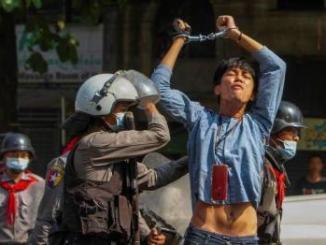 Five Killed In Myanmar Protests As Junta Cracks Down On Online Critics