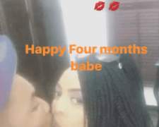Oritsefemi and wife share kiss to celebrate 4th month wedding anniversary (Photos)