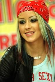 Christina Aguilera-red bandana-1