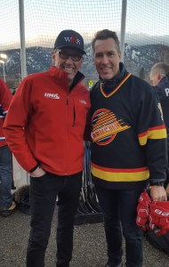 With Canucks Kirk McLean at Hometown Hockey