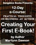 Songdove Books - Creating Your First E-Book