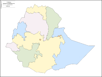 Songdove Books - Map of Ethiopia