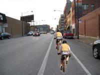 Cycling single file