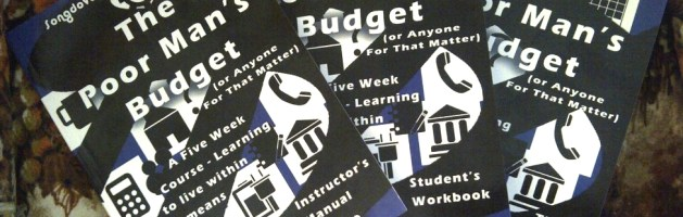 The Poor Man's Budget 5 Week In-Class and Webinar Sign-up Form.