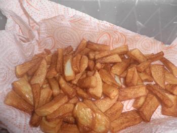 Potatoe wedges fried