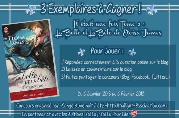 """Concours : 3 Exemplaires de """"Il Etait Une Fois Tome 2 : La Belle & La Bête"""" de Eloisa James à Gagner !"""