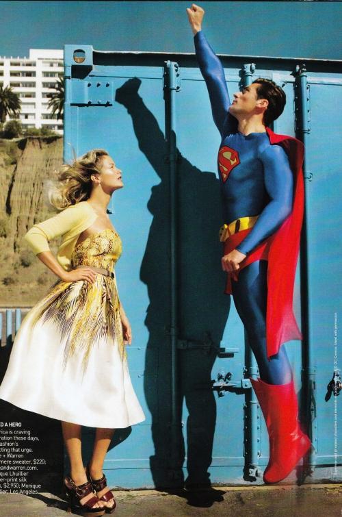 David Gandy en Superman pour American Vogue 1