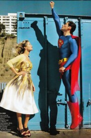 David Gandy en Superman pour American Vogue 1