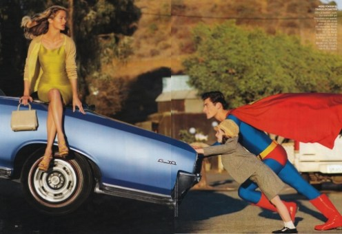 David Gandy en Superman pour American Vogue 4