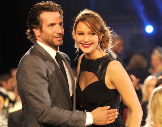 Jennifer Lawrence with Bradley Cooper - Critics Choice Movie Awards2013